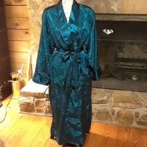 Vintage Victoria's Secret teal robe